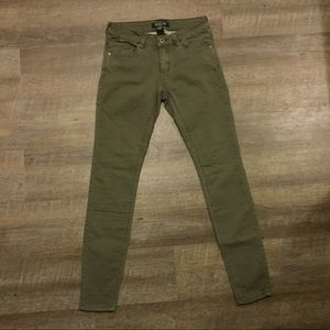 Olive Green Buttery Soft Skinny Jeans / Jeggings